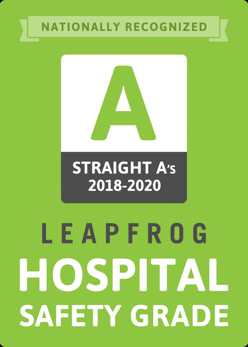 Grado de seguridad del hospital Leapfrog