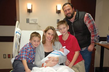 Aiken family welcomes the first baby of 2017