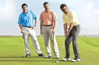 Men on golf course
