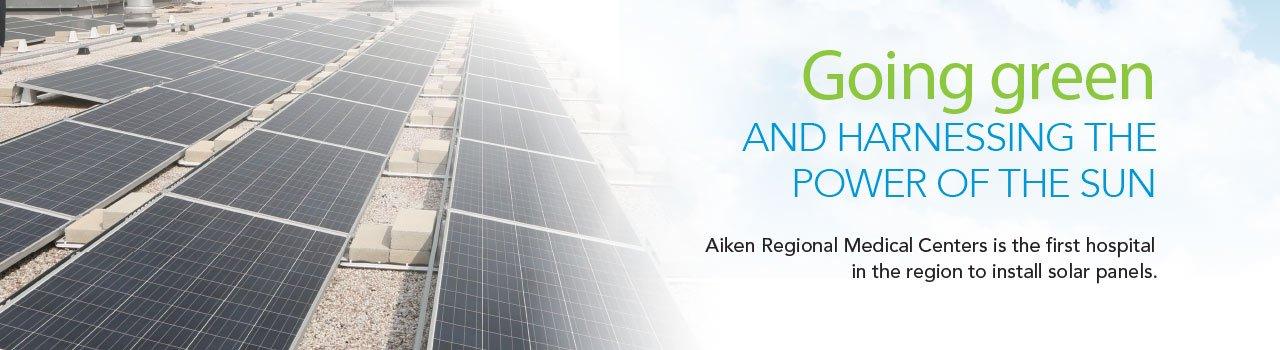 Aiken Regional Medical Centers es el primer hospital de la región en instalar paneles solares.